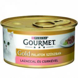 Bolti átvételre rendelhető :Gourmet Gold  lazaccal és csirkével duo 85g