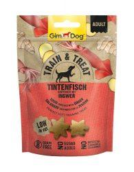 Kipróbálási Akció: GimDog Train & Treat Tintenfisch & Ingwer snack 125g
